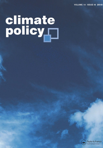Climate Policy journal cover